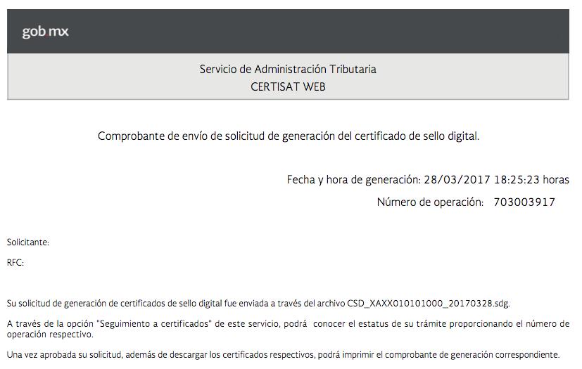 Tramite CSD Firmar archivo SDG